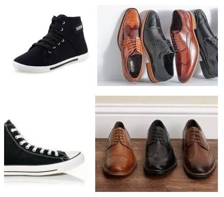 מספר סוגים של נעליים